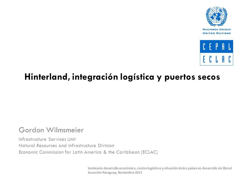 Hinterland, integración logística y puertos secos