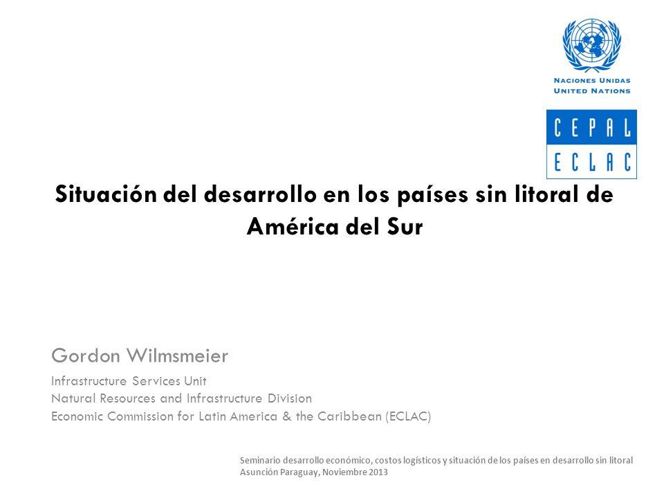 Situación del desarrollo en los países sin litoral de América del Sur