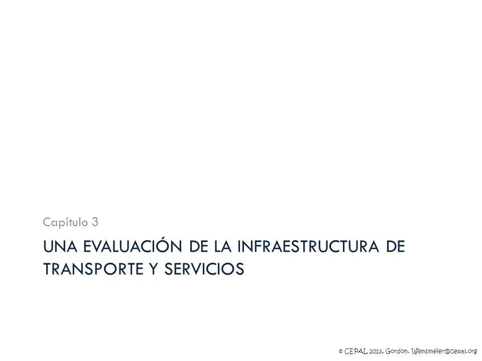 Una evaluación de la infraestructura de transporte y servicios