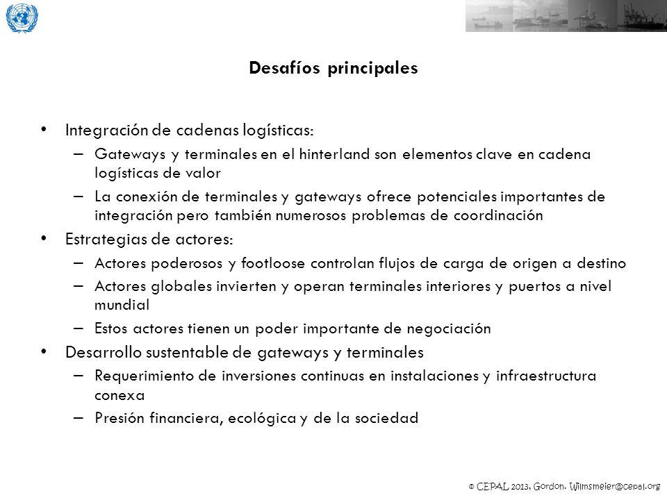Desafíos principales Integración de cadenas logísticas: