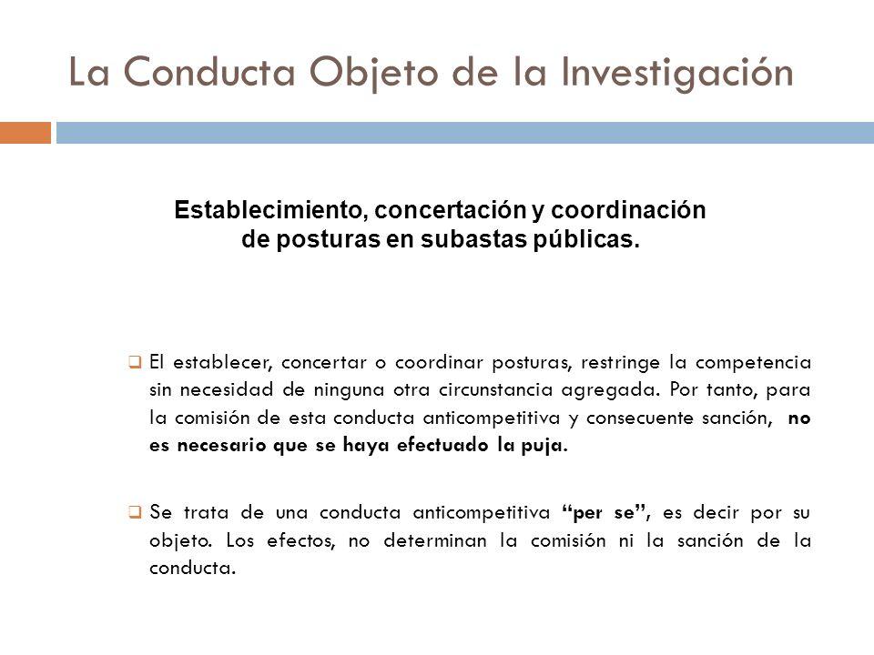 La Conducta Objeto de la Investigación