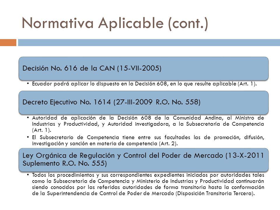 Normativa Aplicable (cont.)
