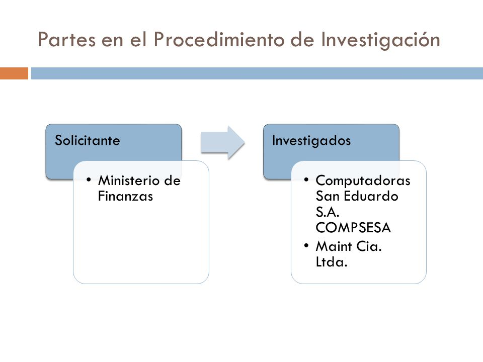 Partes en el Procedimiento de Investigación