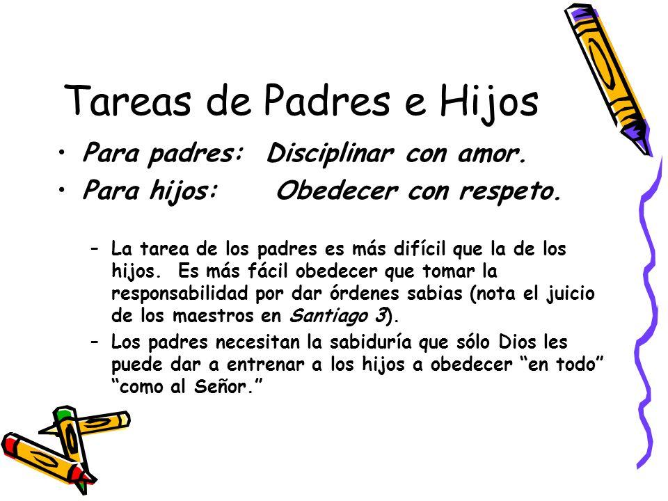 Tareas de Padres e Hijos