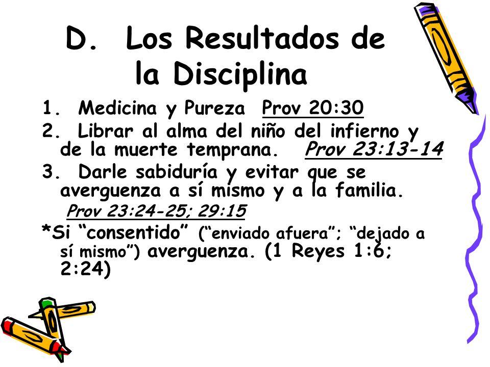 D. Los Resultados de la Disciplina