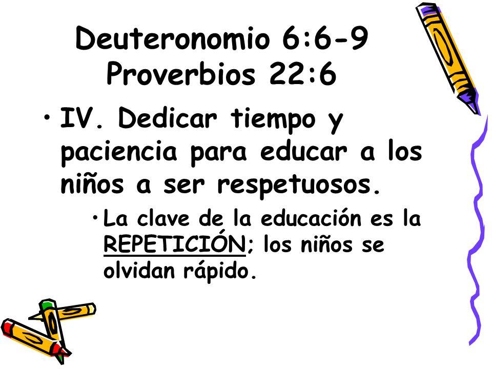Deuteronomio 6:6-9 Proverbios 22:6