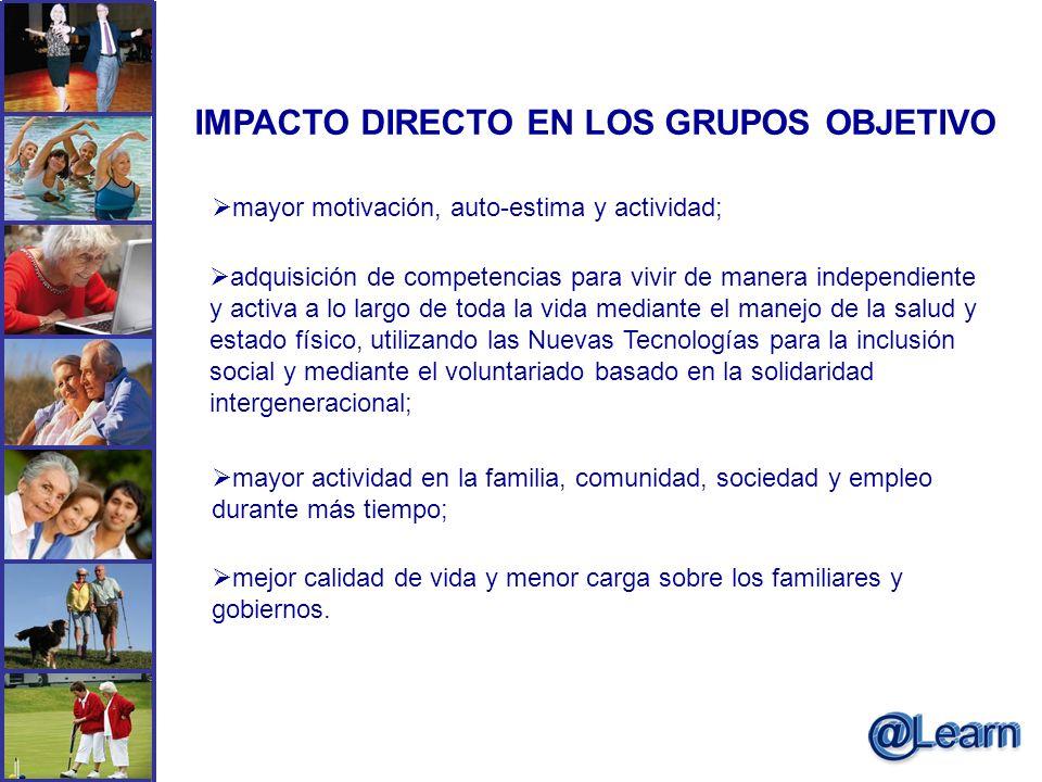 IMPACTO DIRECTO EN LOS GRUPOS OBJETIVO