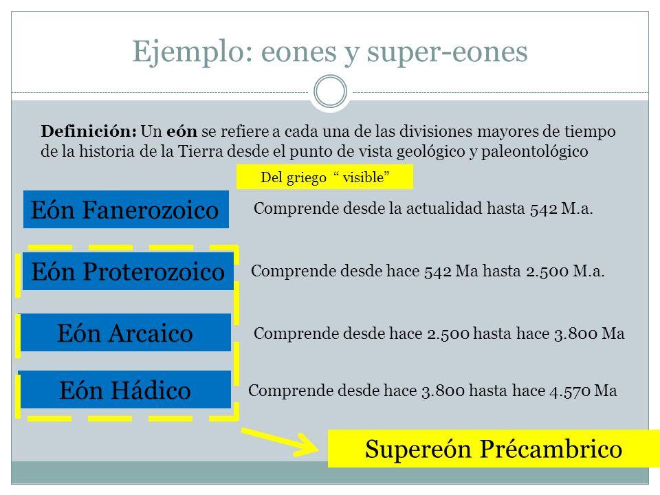Ejemplo: eones y super-eones