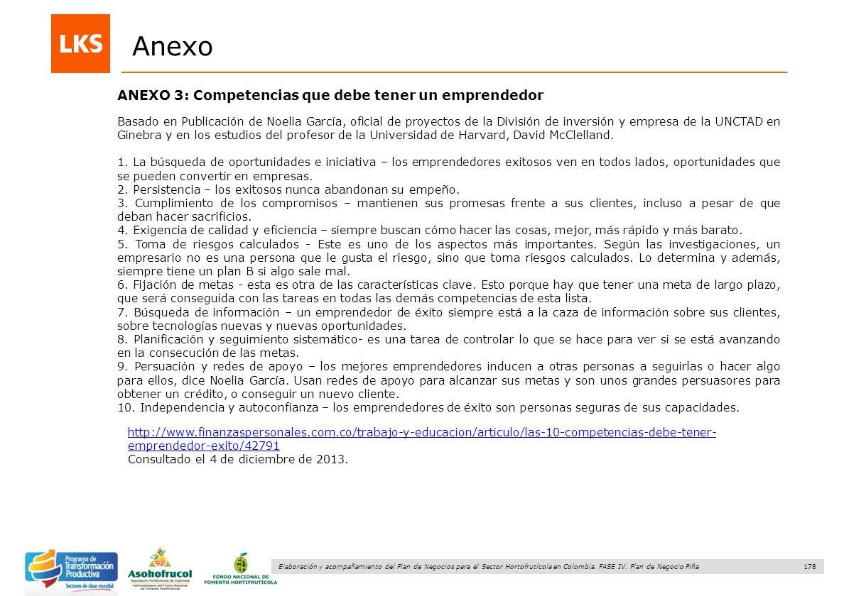 Anexo ANEXO 3: Competencias que debe tener un emprendedor