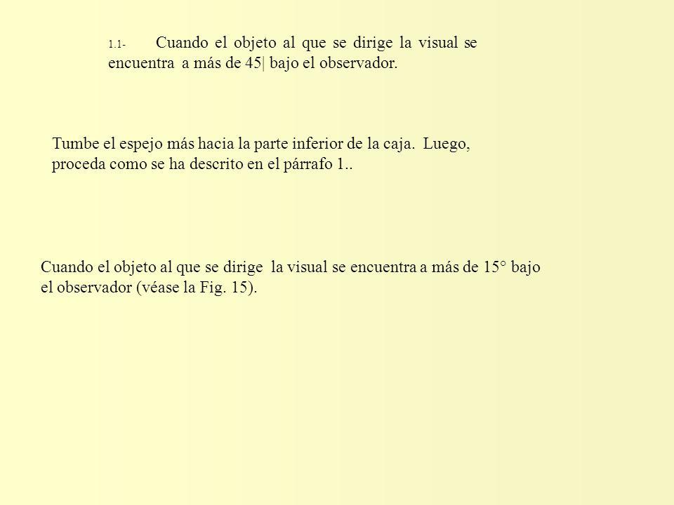 1.1- Cuando el objeto al que se dirige la visual se encuentra a más de 45| bajo el observador.