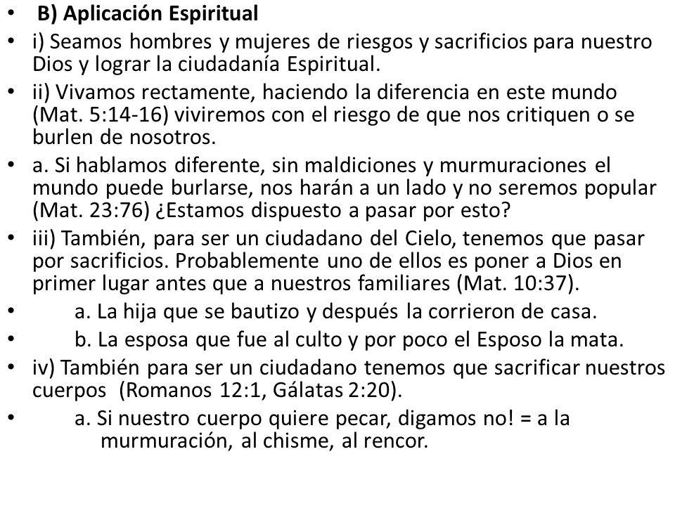 B) Aplicación Espiritual