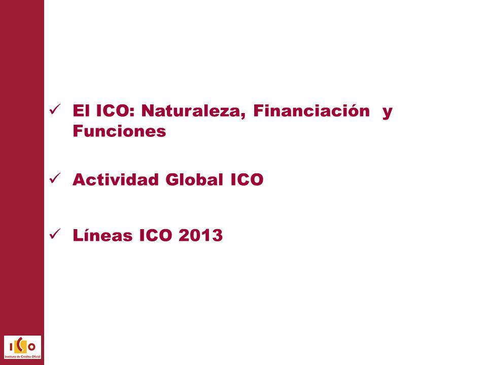 El ICO: Naturaleza, Financiación y Funciones