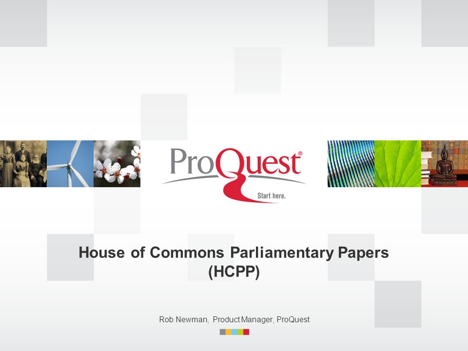 House of Commons Parliamentary Papers (HCPP)