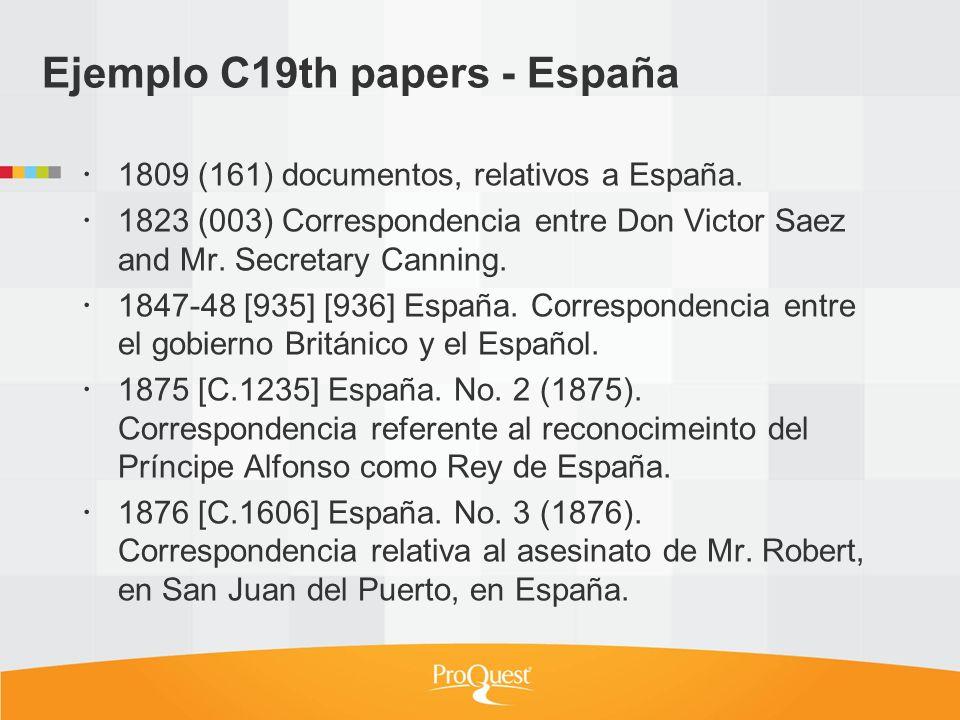 Ejemplo C19th papers - España