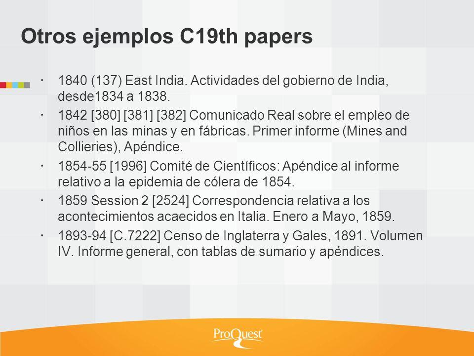 Otros ejemplos C19th papers