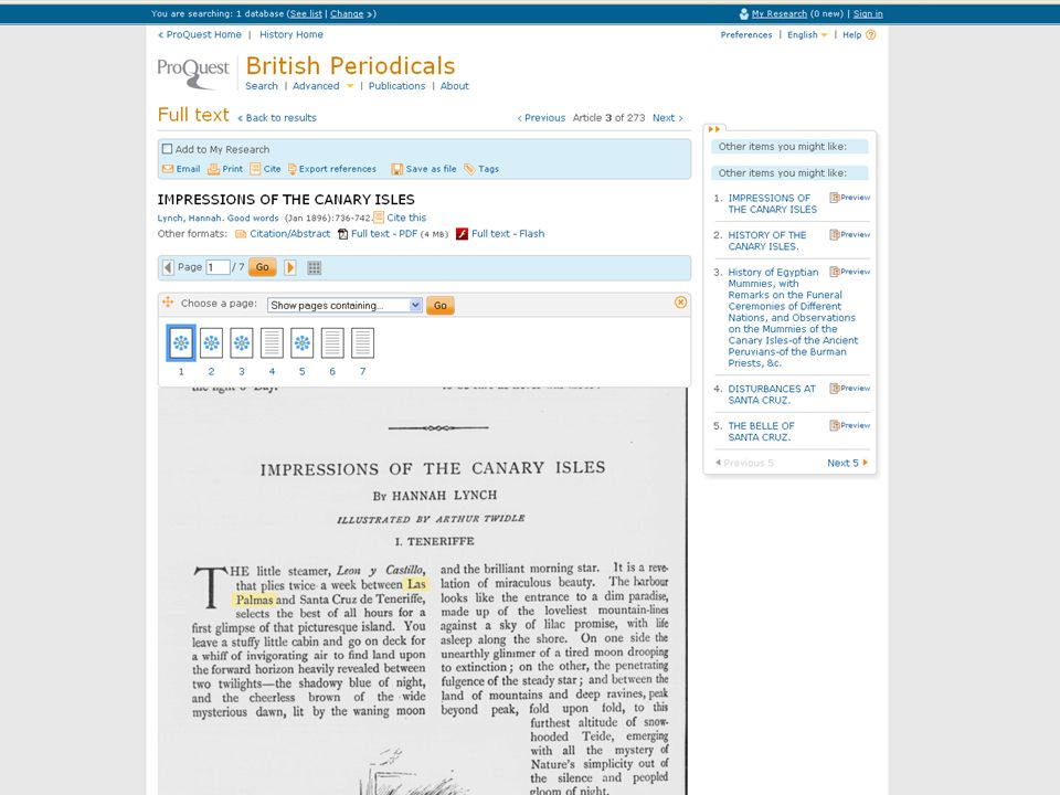 British Periodicals is now on the new ProQuest platform