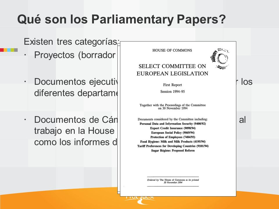 Qué son los Parliamentary Papers