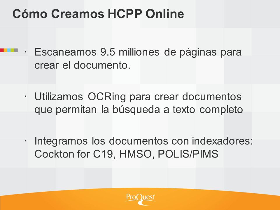 Cómo Creamos HCPP Online