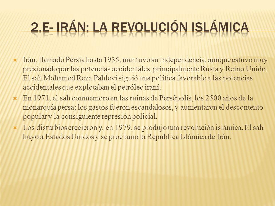 2.e- Irán: la revolución islámica