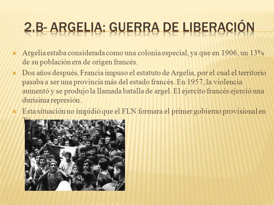 2.b- Argelia: guerra de liberación