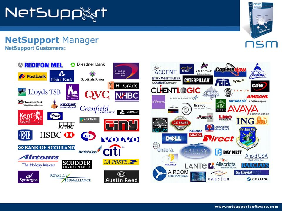 NetSupport Customers