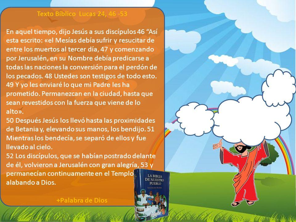 Texto Bíblico Lucas 24, 46 -53