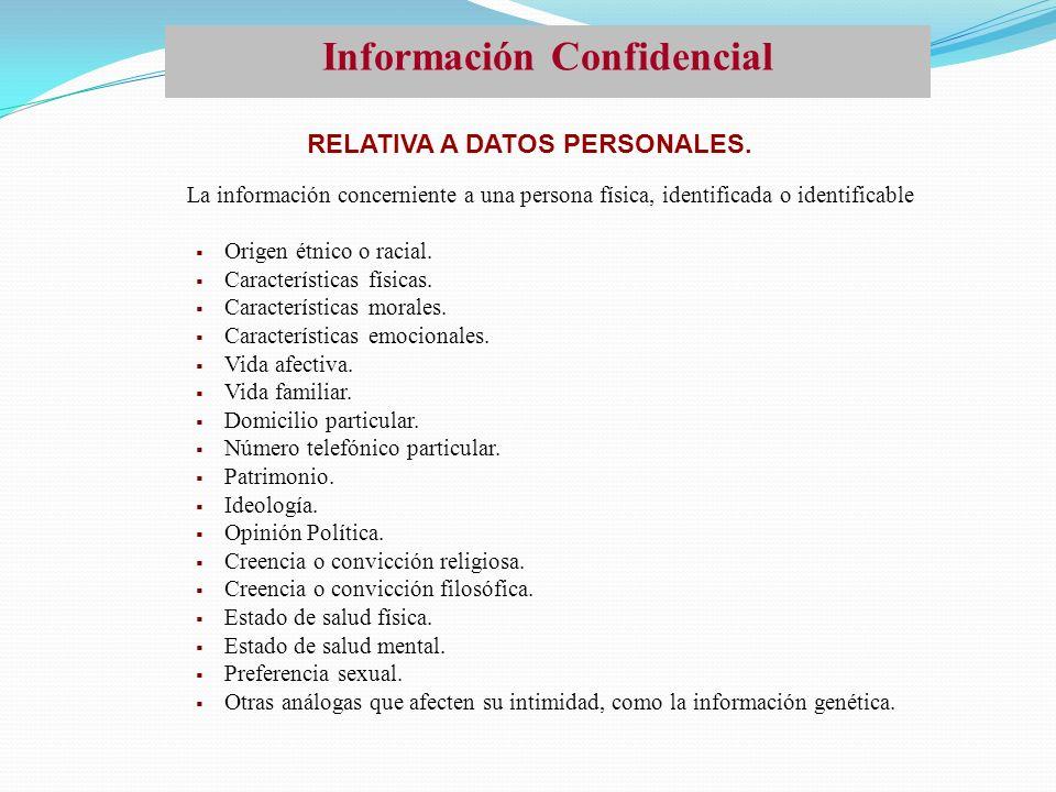 Información Confidencial