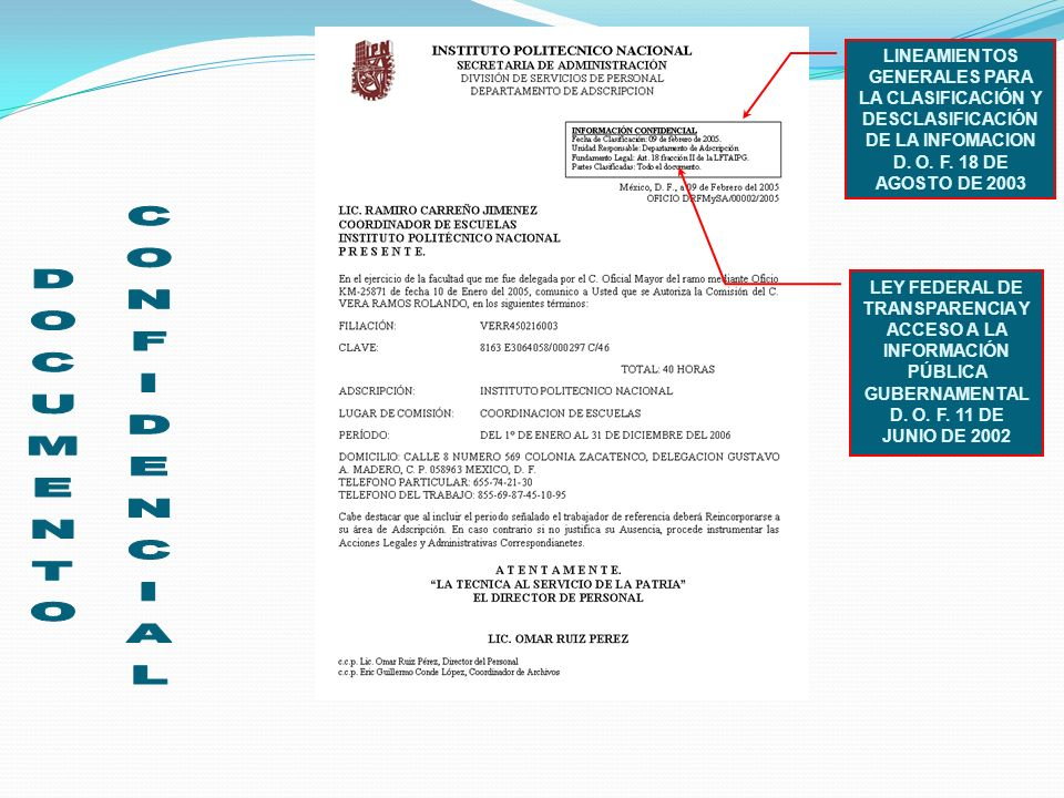 DOCUMENTO CONFIDENCIAL