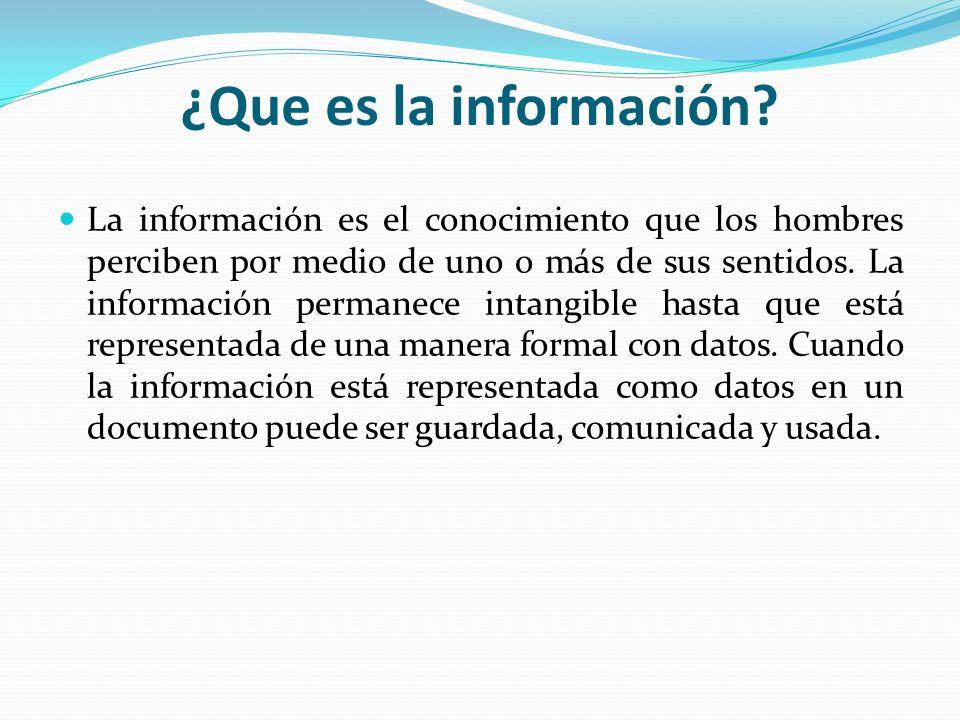 ¿Que es la información