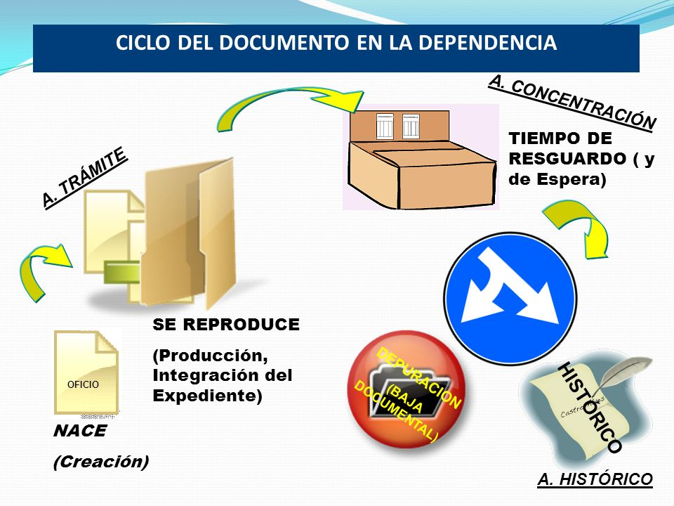 CICLO DEL DOCUMENTO EN LA DEPENDENCIA