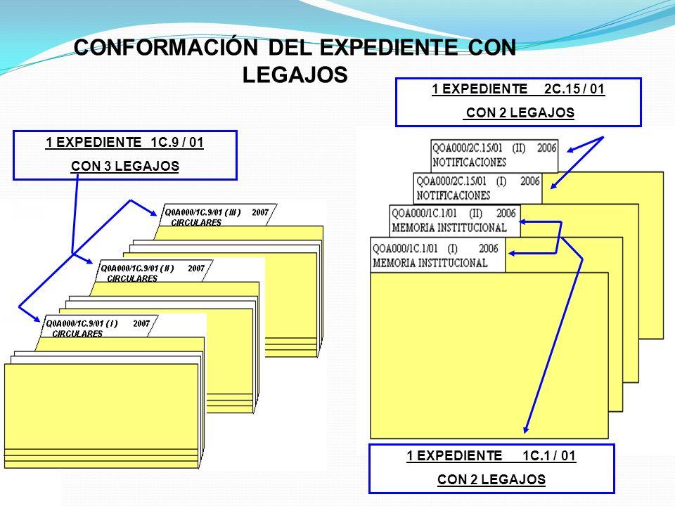 CONFORMACIÓN DEL EXPEDIENTE CON LEGAJOS