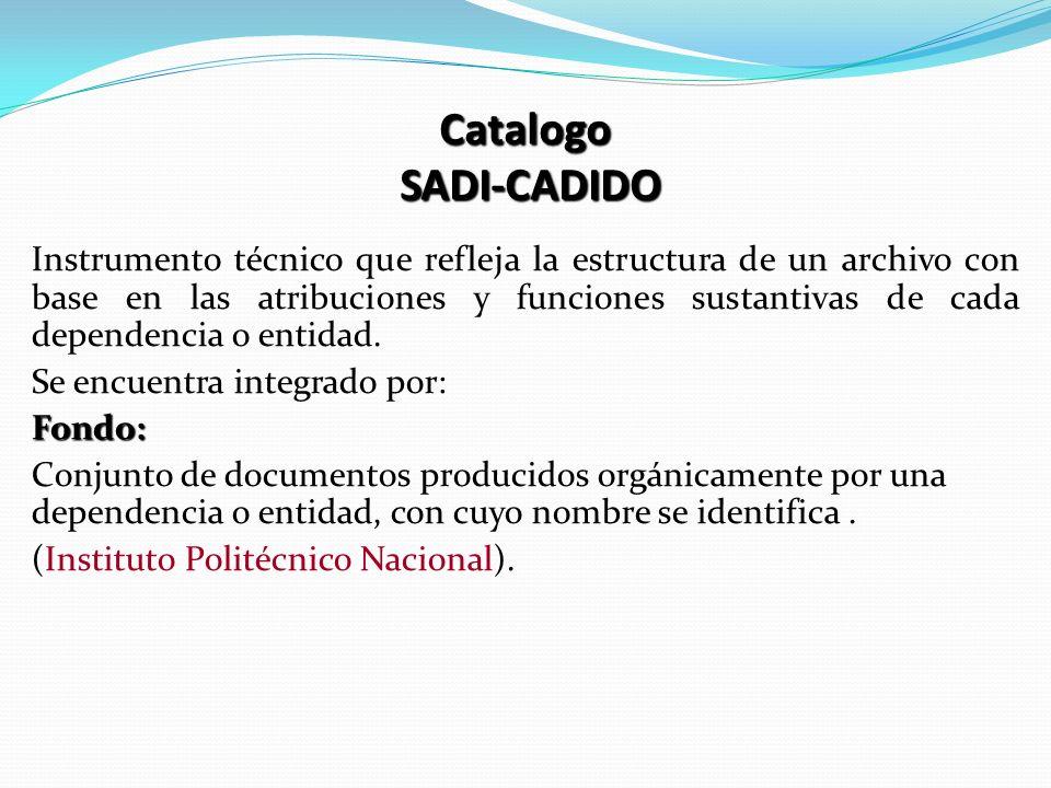 Catalogo SADI-CADIDO