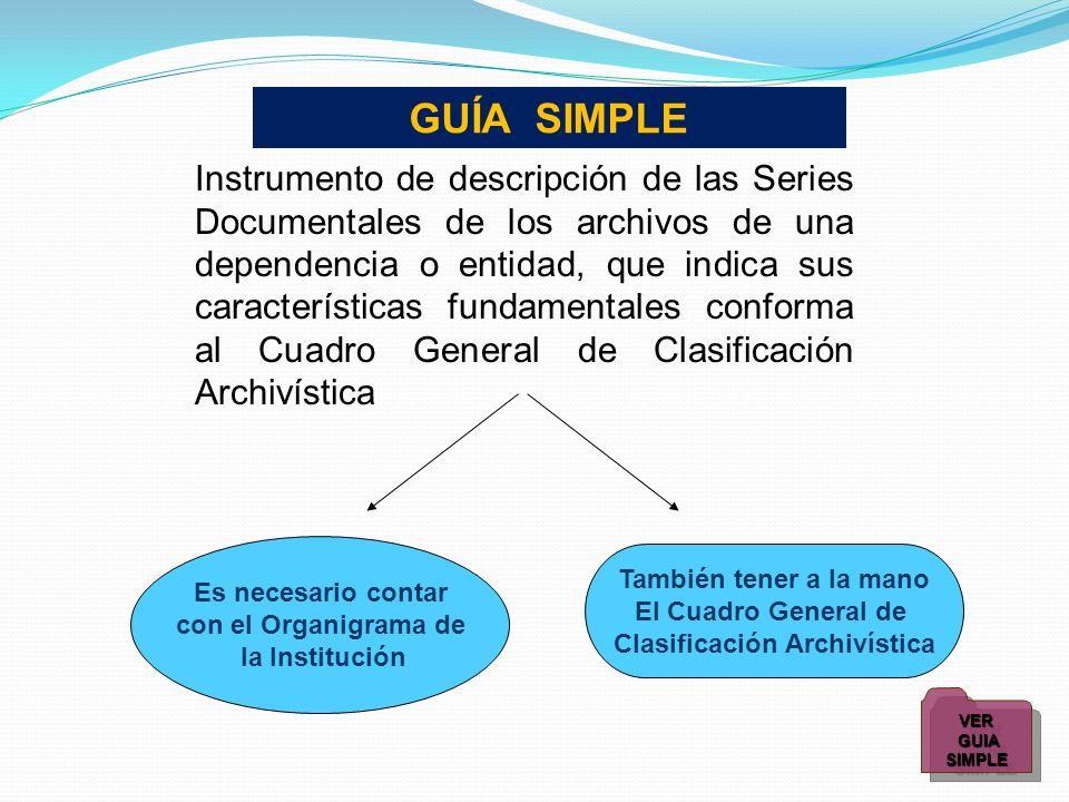 Clasificación Archivística