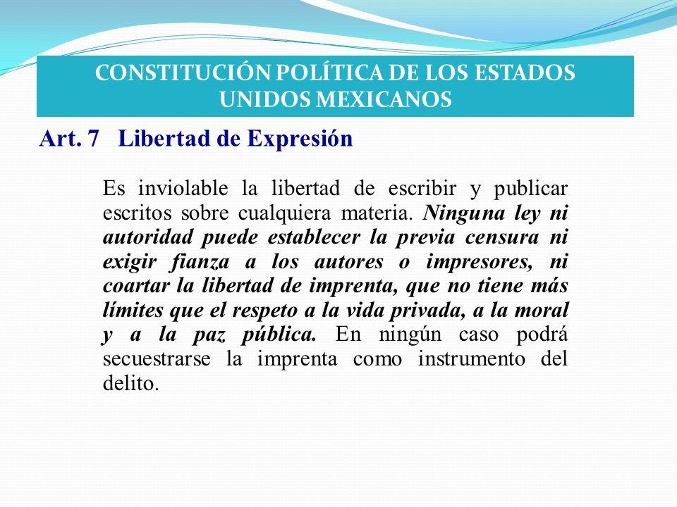 CONSTITUCIÓN POLÍTICA DE LOS ESTADOS