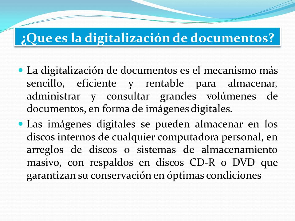 ¿Que es la digitalización de documentos