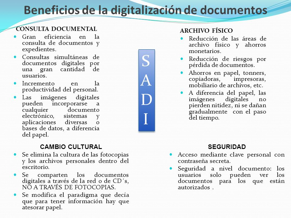 Beneficios de la digitalización de documentos
