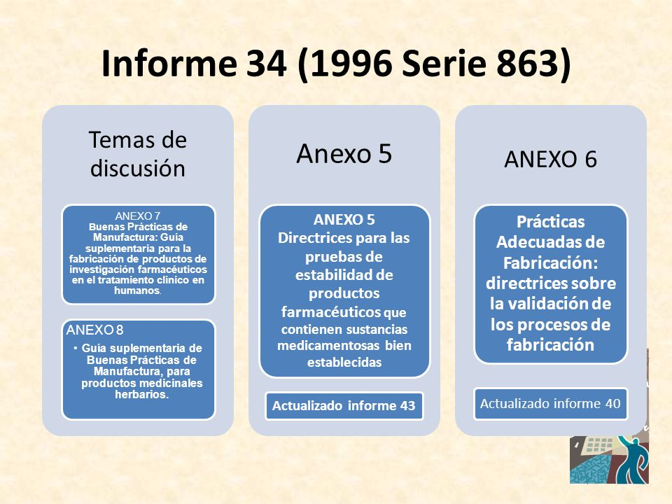 Informe 34 (1996 Serie 863) Anexo 5 Temas de discusión ANEXO 6