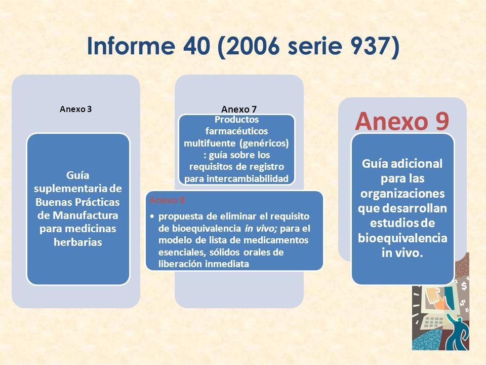 Informe 40 (2006 serie 937) Anexo 3. Guía suplementaria de Buenas Prácticas de Manufactura para medicinas herbarias.