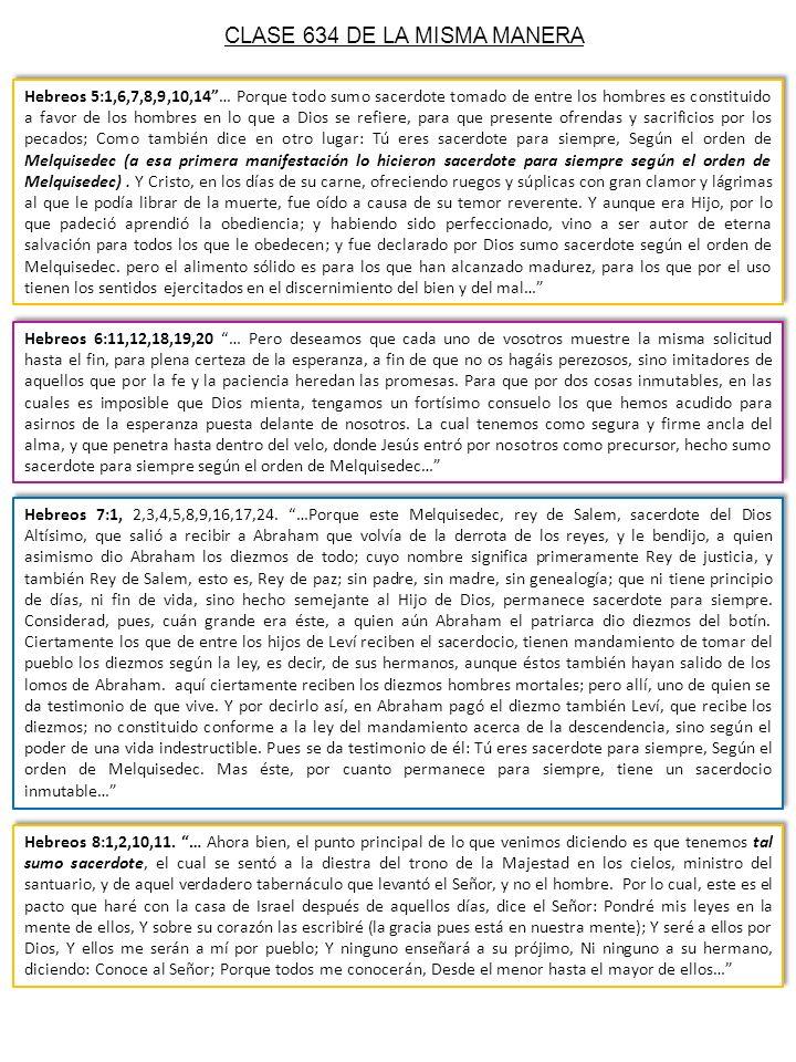 CLASE 634 DE LA MISMA MANERA