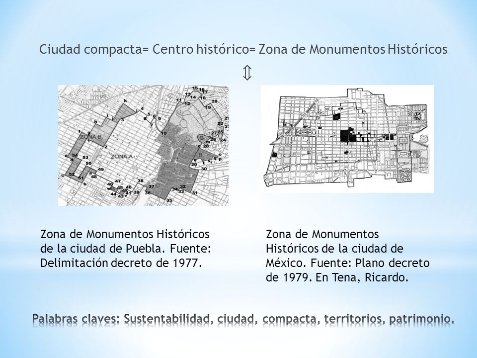 c Ciudad compacta= Centro histórico= Zona de Monumentos Históricos