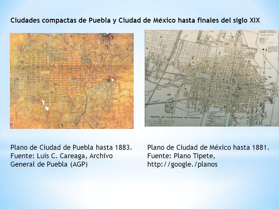 Ciudades compactas de Puebla y Ciudad de México hasta finales del siglo XIX