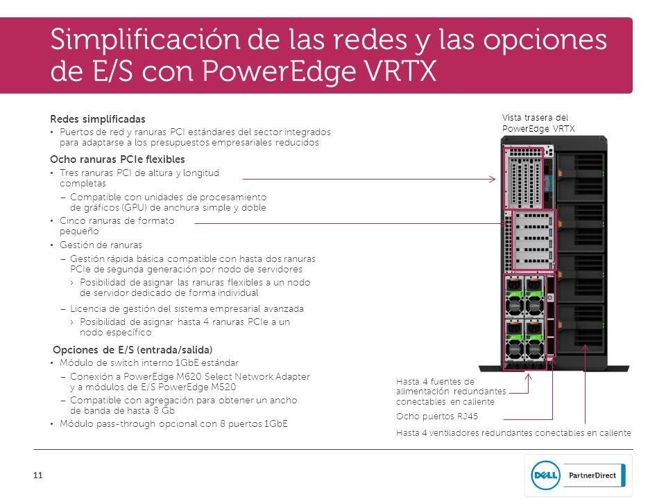 Simplificación de las redes y las opciones de E/S con PowerEdge VRTX