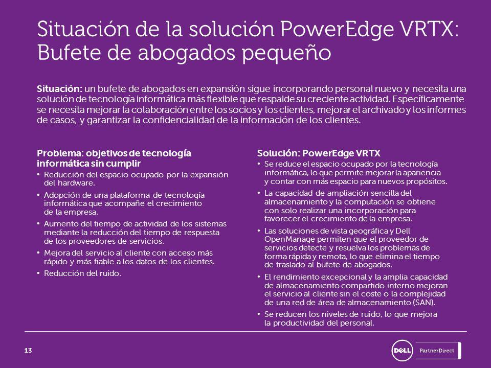 Situación de la solución PowerEdge VRTX: Bufete de abogados pequeño