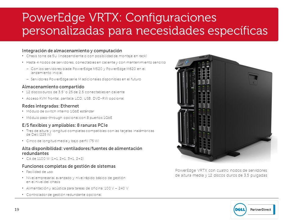 PowerEdge VRTX: Configuraciones personalizadas para necesidades específicas