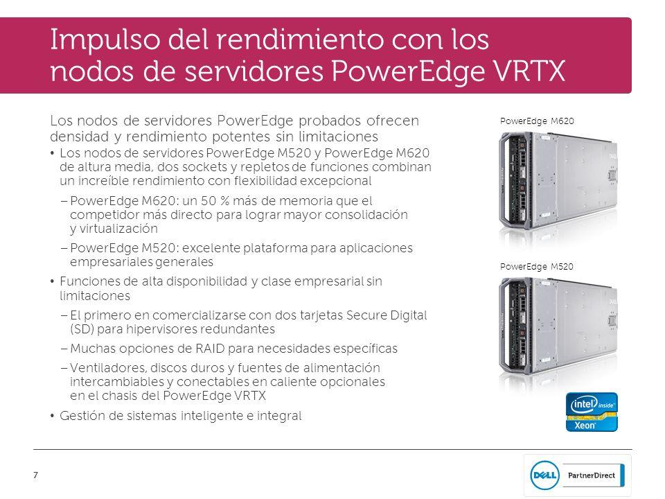 Impulso del rendimiento con los nodos de servidores PowerEdge VRTX