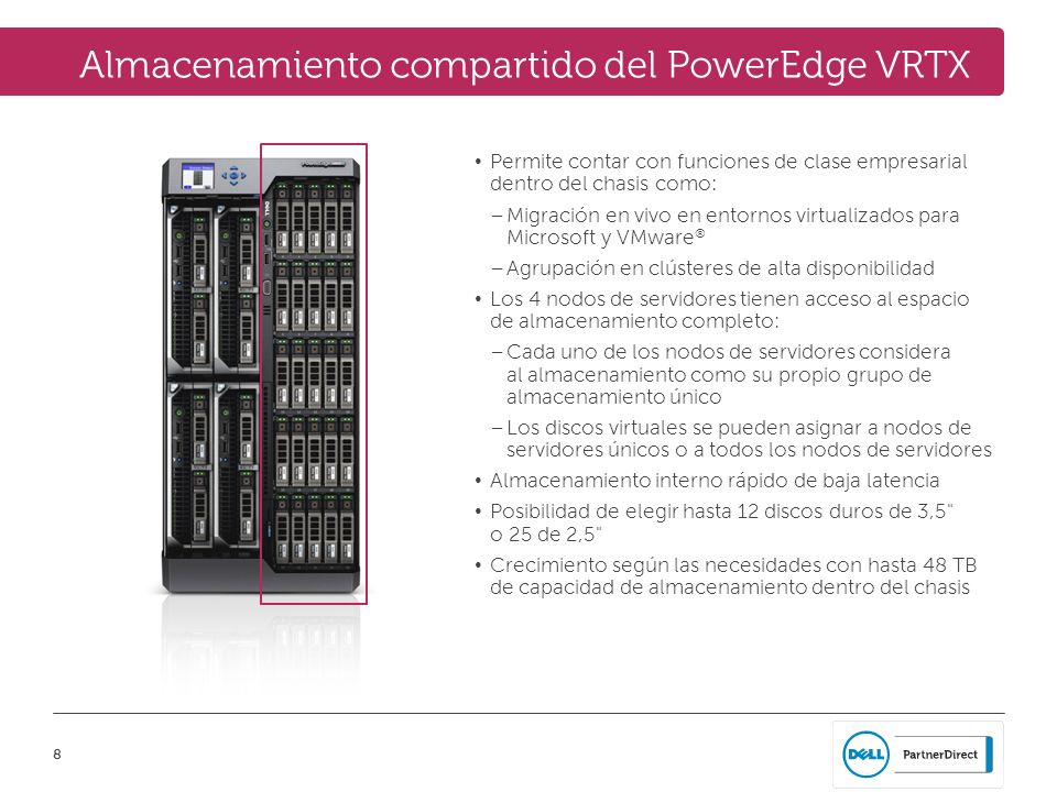 Almacenamiento compartido del PowerEdge VRTX