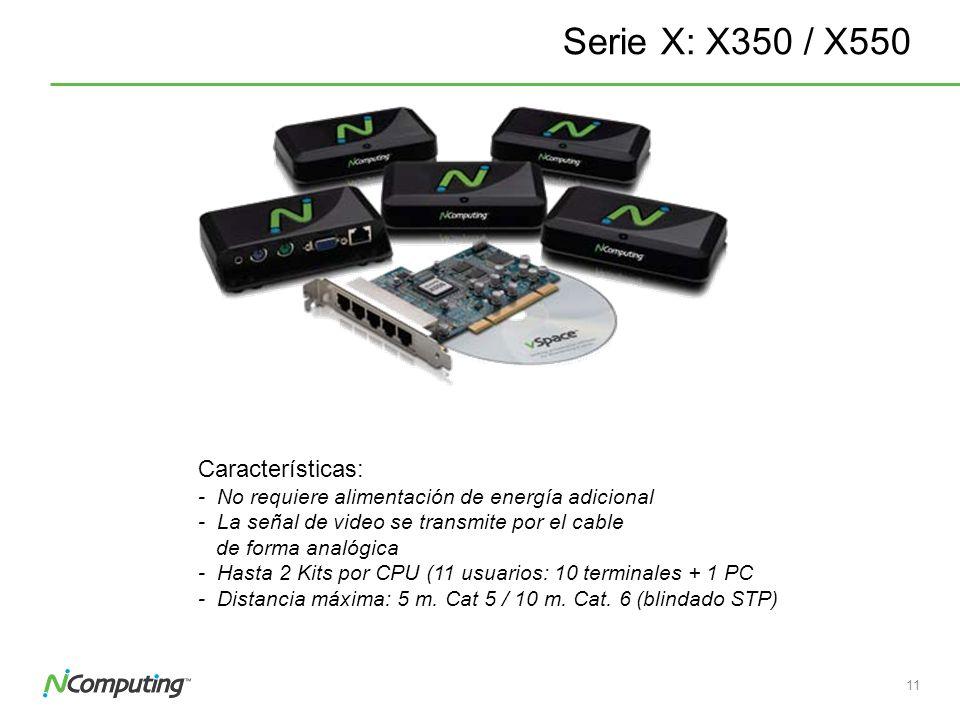 Serie X: X350 / X550 Características: