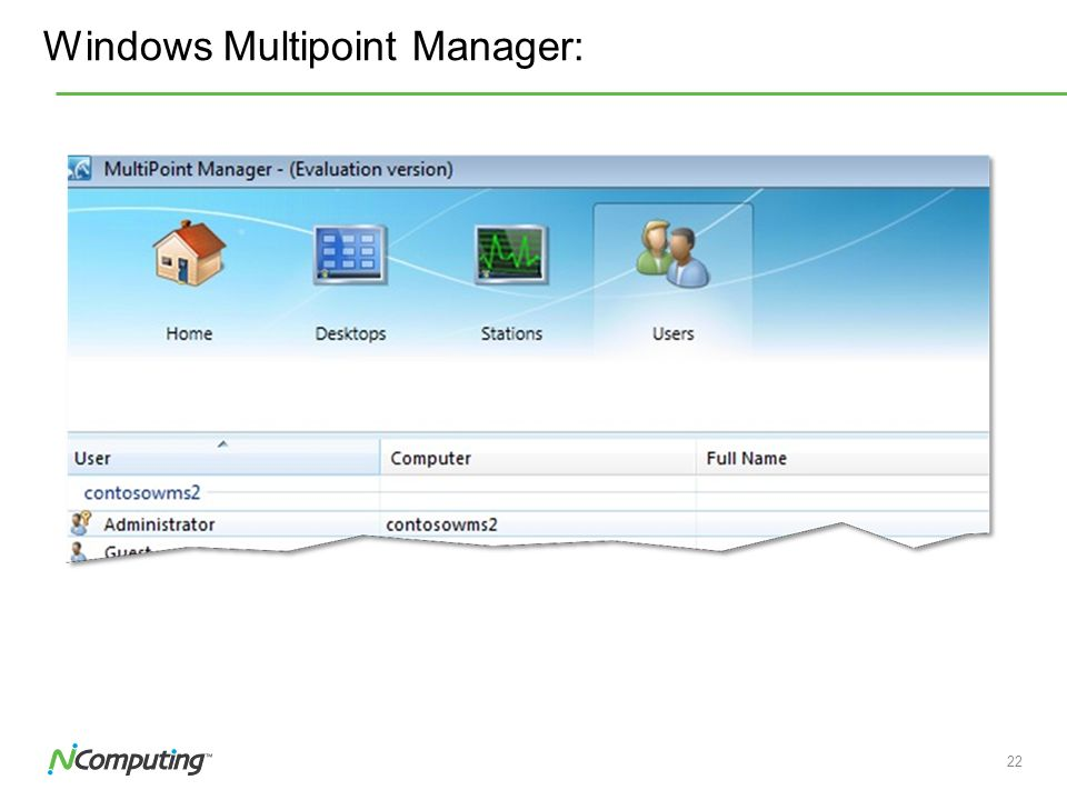 Windows Multipoint Manager: