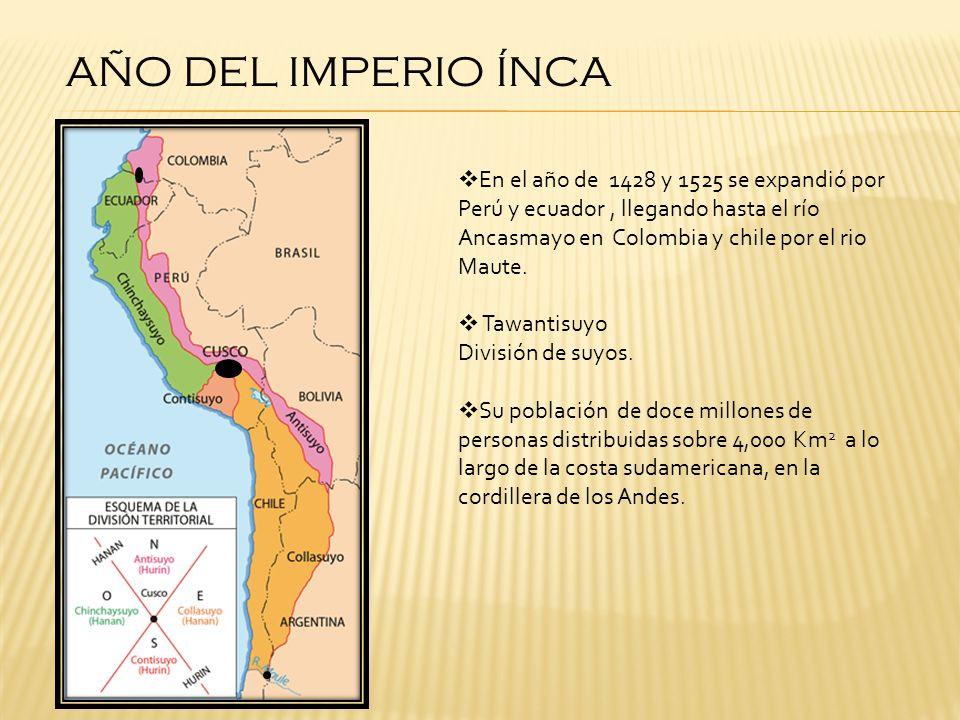 AÑO DEL IMPERIO ÍNCA
