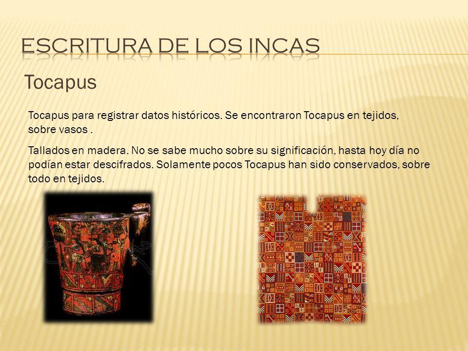 Escritura de los incas Tocapus